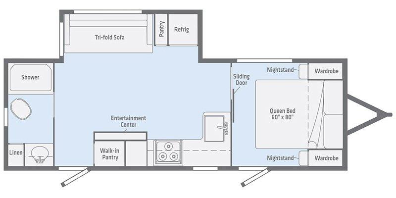 2021 WINNEBAGO VOYAGE 2427RB Floorplan