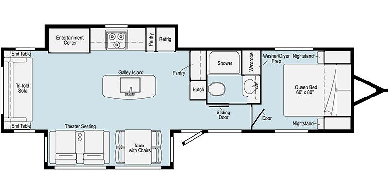 2021 WINNEBAGO VOYAGE 3235RL Floorplan
