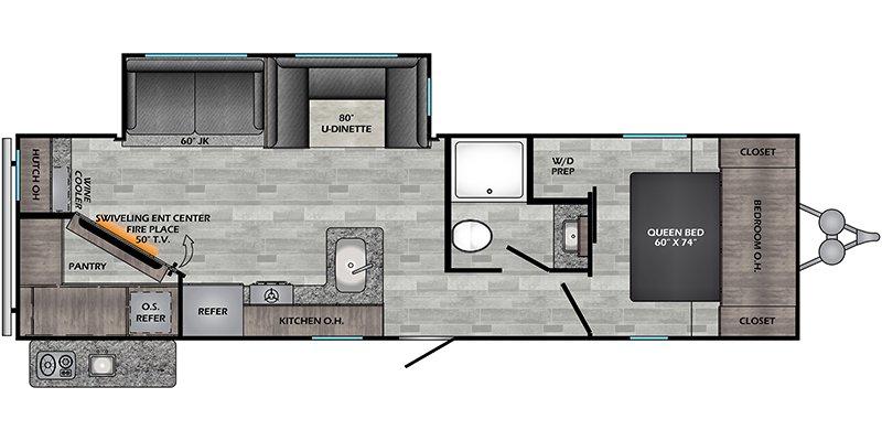 2021 CROSSROADS RV ZINGER 299RE Floorplan