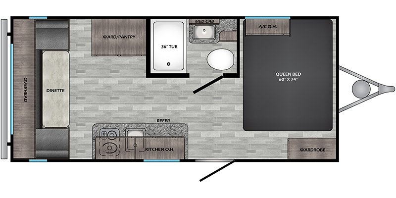 2021 CROSSROADS RV ZINGER 18RD LITE Floorplan