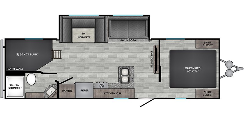 2021 CROSSROADS RV ZINGER 270BH Floorplan