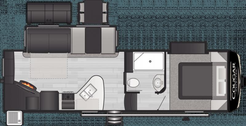 2021 KEYSTONE RV COUGAR 25RES Floorplan