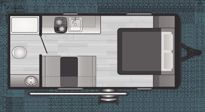2021 KEYSTONE RV HIDEOUT 178RB Floorplan