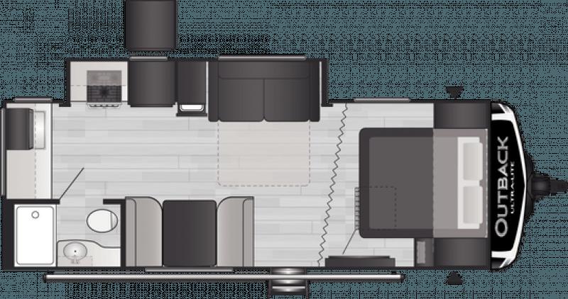 2021 KEYSTONE RV OUTBACK 221UMD Floorplan