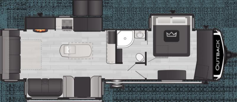 2021 KEYSTONE RV OUTBACK 328RL Floorplan