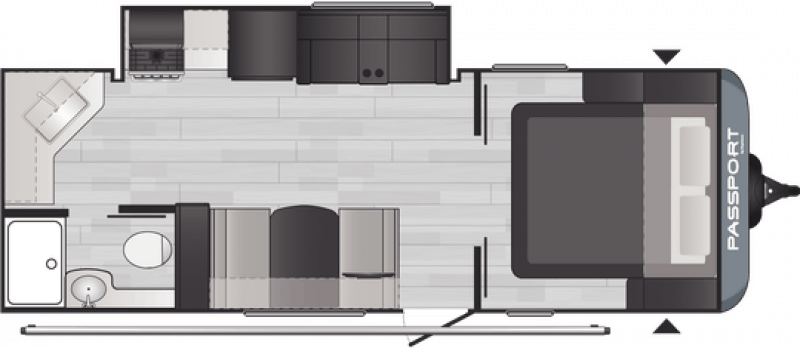 2021 KEYSTONE RV PASSPORT 229RK Floorplan