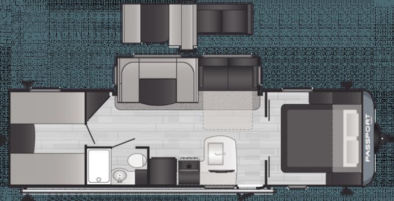 2021 KEYSTONE RV PASSPORT 282QB Floorplan