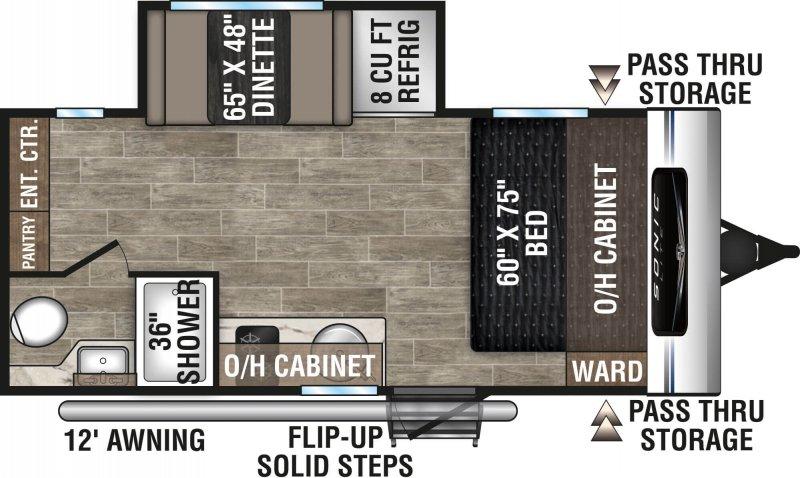 2021 VENTURE RV SONIC 169VMK Floorplan