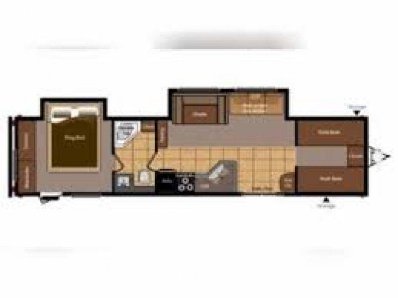 2012 KEYSTONE Hideout 38BHDS Floorplan