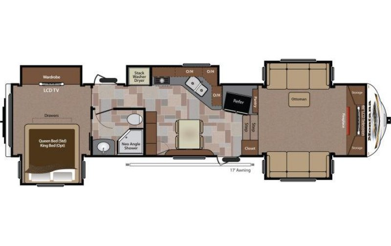 2014 KEYSTONE RV Montana Big Sky 3850FL Floorplan