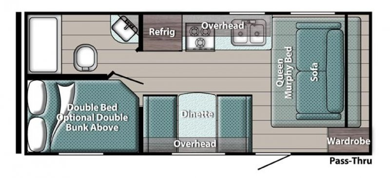 2022 GULFSTREAM INNSBRUCK SUPER-LITE 197BH Floorplan