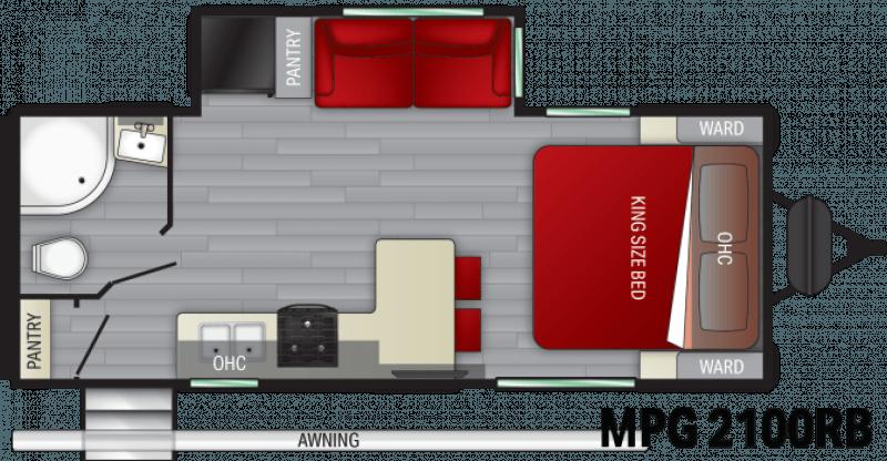 2021 CRUISER RV MPG ULTRA -LITE 2100RB Floorplan