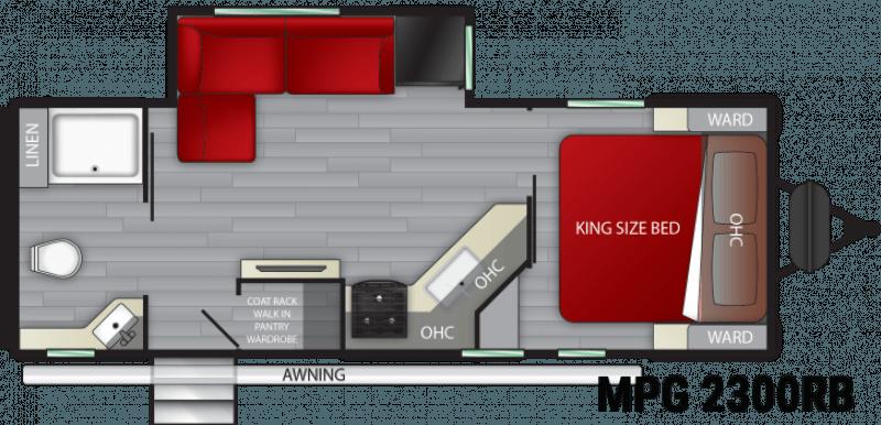 2021 CRUISER RV MPG ULTRA - LITE 2300RB Floorplan