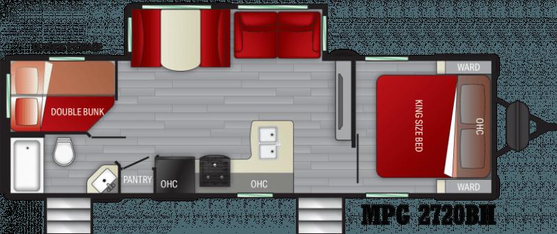 2021 CRUISER RV MPG ULTRA - LITE 2720BH Floorplan