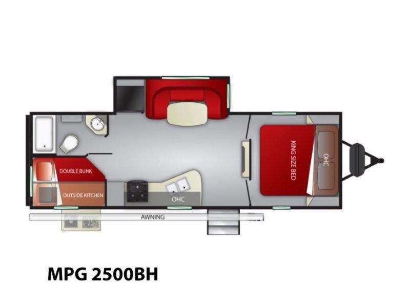 2020 CRUISER RV MPG ULTRA-LITE 2500BH