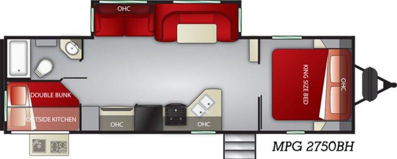 2019 CRUISER RV MPG ULTRA-LITE 2750BH