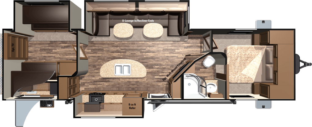 2016 HIGHLAND RIDGE RV LIGHT SERIES M-308BHS
