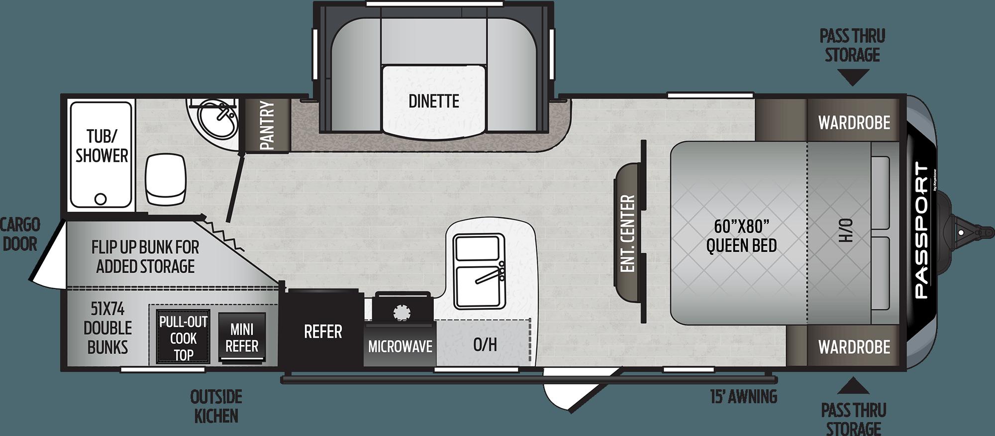 2020 KEYSTONE PASSPORT SL 240BH