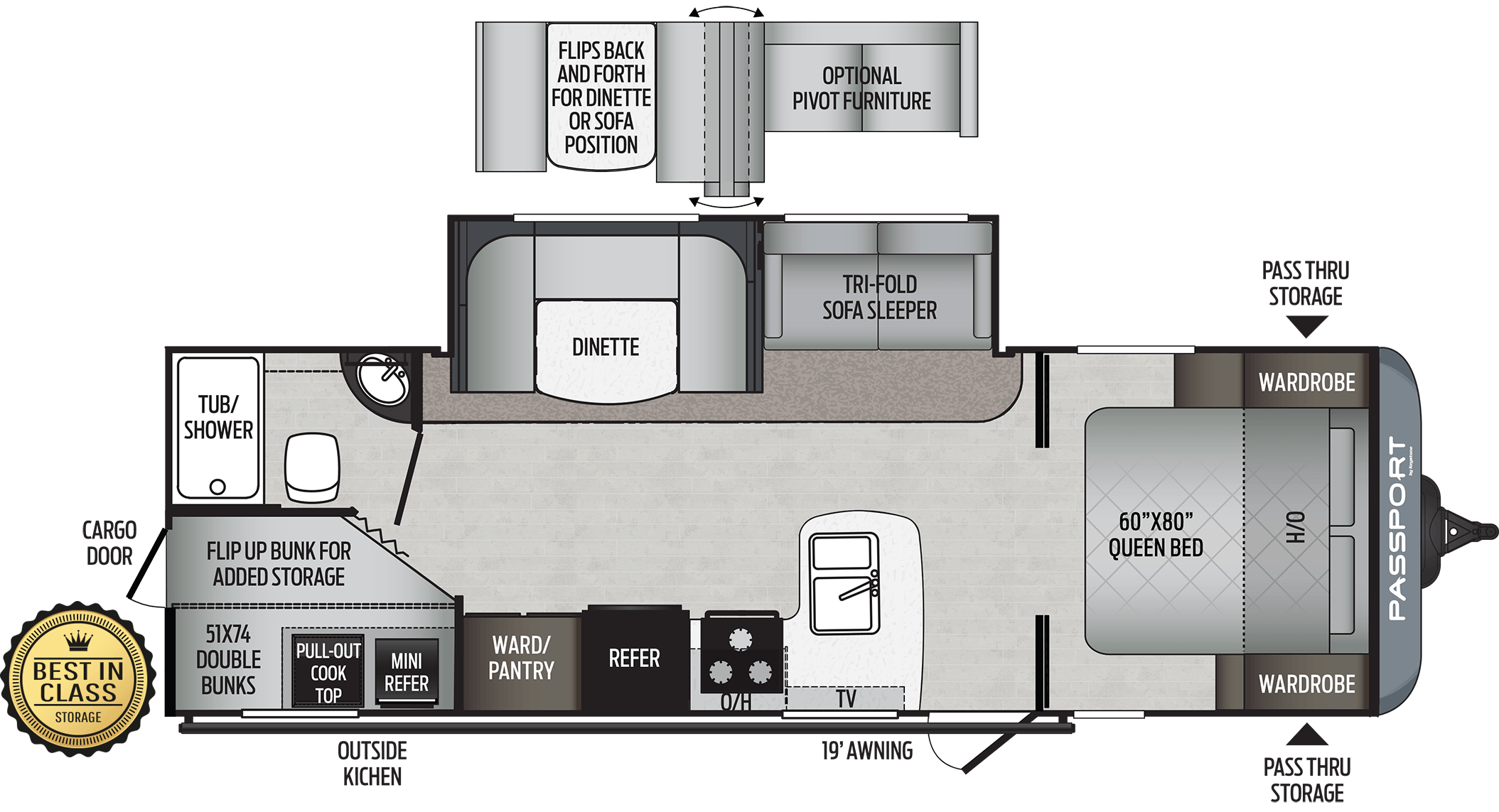 2021 KEYSTONE RV PASSPORT SL 268BH - PRE ORDER NOW!