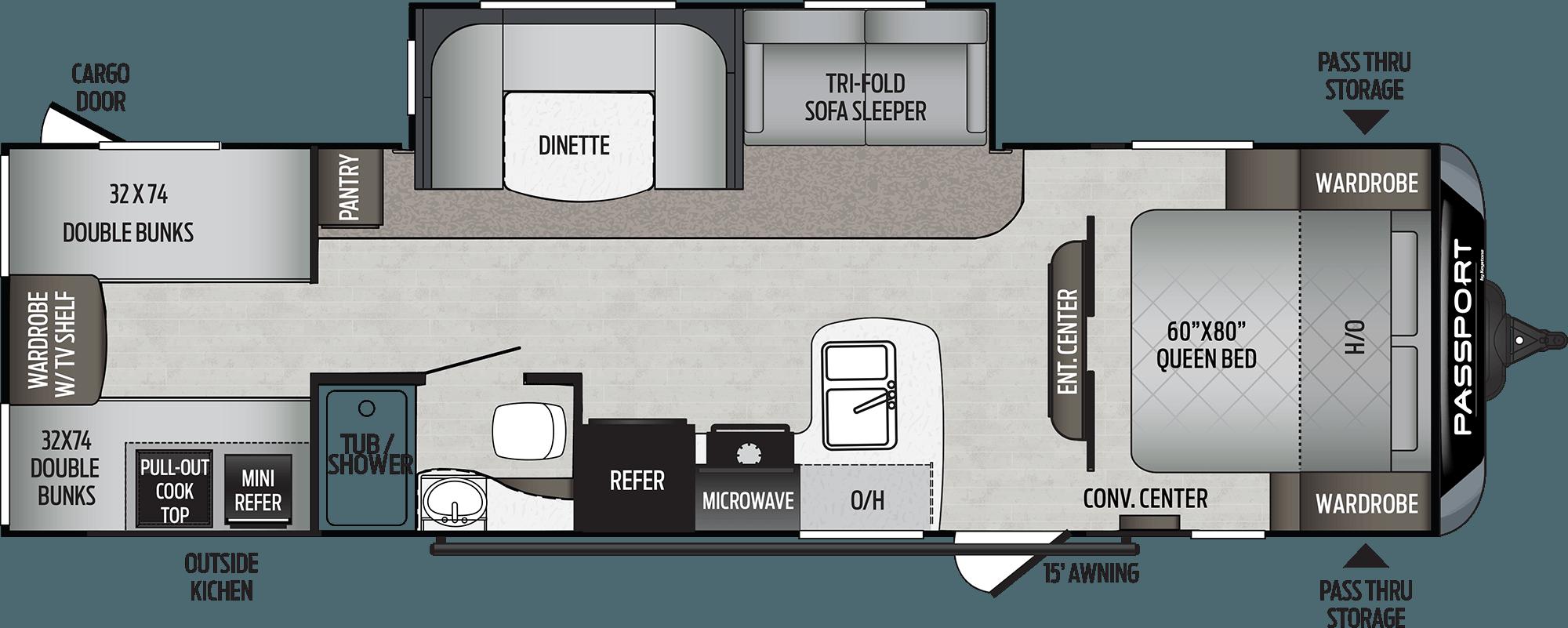 2020 KEYSTONE PASSPORT SL 292BH