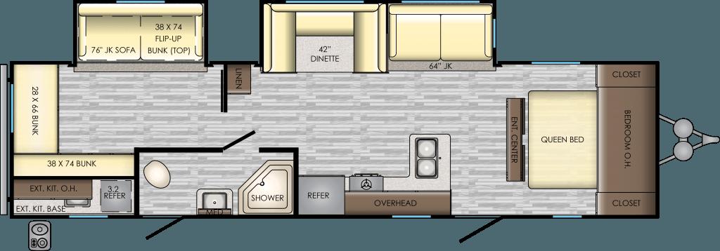 2019 CROSSROADS Zinger 328SB