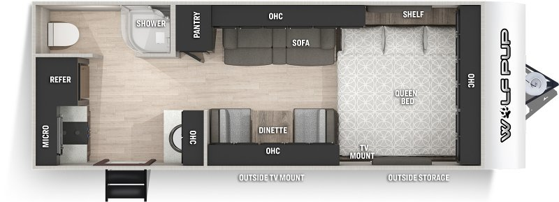 2021 FOREST RIVER WOLF PUP 16HE Floorplan