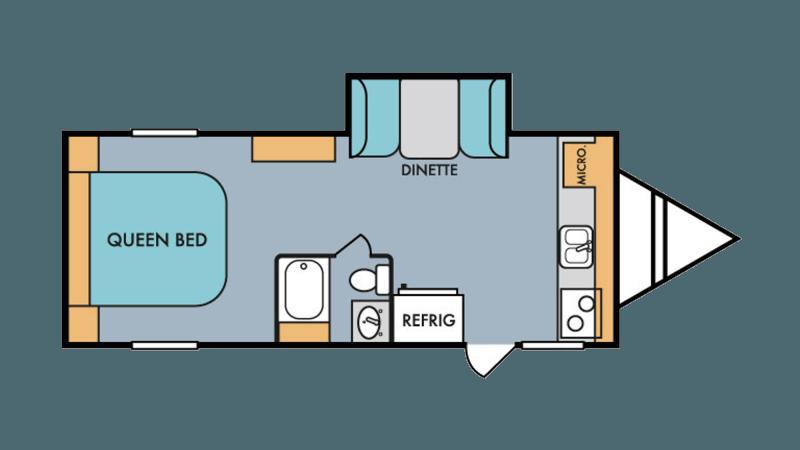 2019 RIVERSIDE Retro 199FKS Floorplan