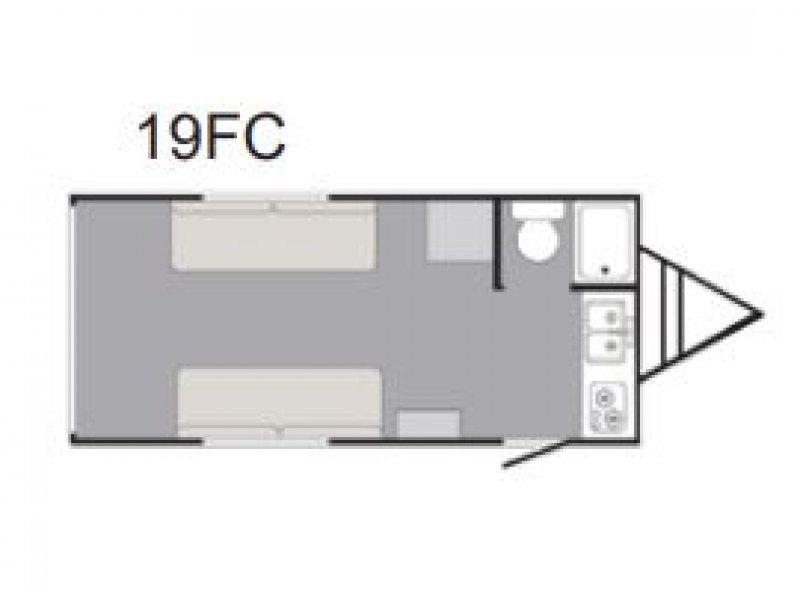 2022 SUNSET PARK RV RUSH 19FC IN STOCK Floorplan