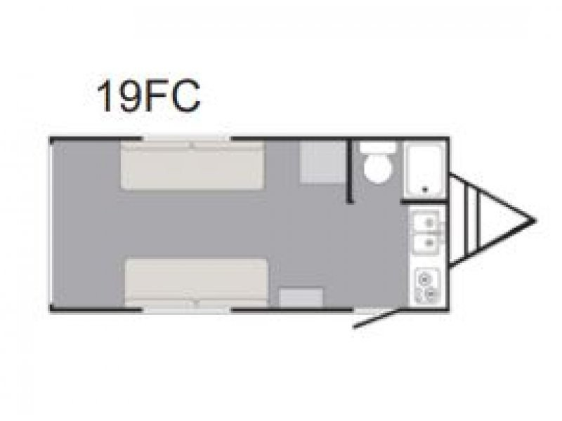 2021 SUNSET PARK RV RUSH 19FC Floorplan