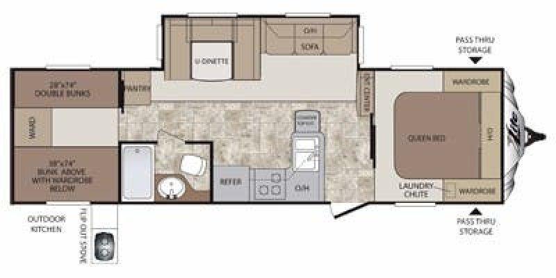 2013 KEYSTONE Cougar 29RBK Floorplan