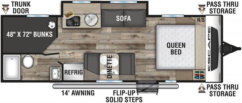 2021 K-Z ESCAPE E231BH Floorplan