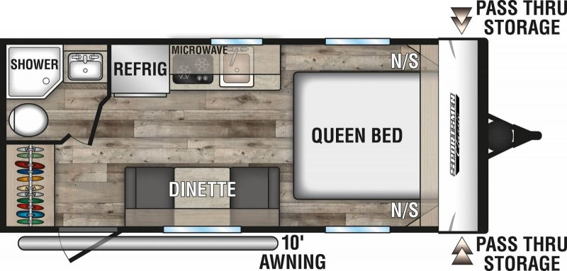 2021 K-Z INC. SPORTSMEN CLASSIC 160QB Floorplan