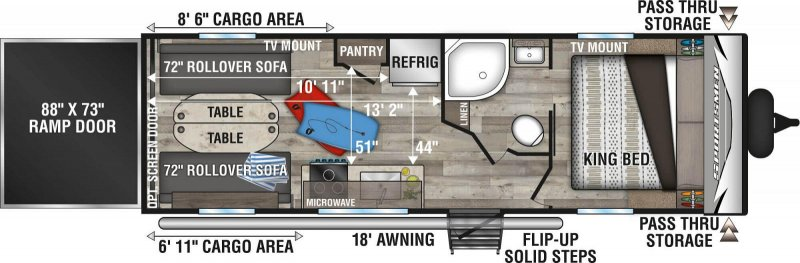 2021 K-Z INC. SPORTSMEN LE 250THLE Floorplan