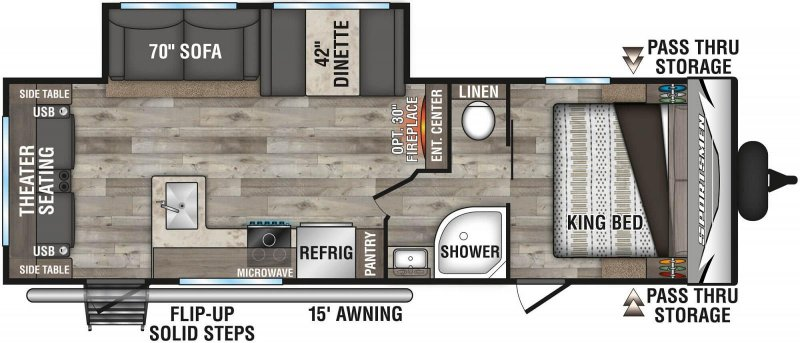 2021 K-Z SPORTSMEN LE 261RLLE Floorplan