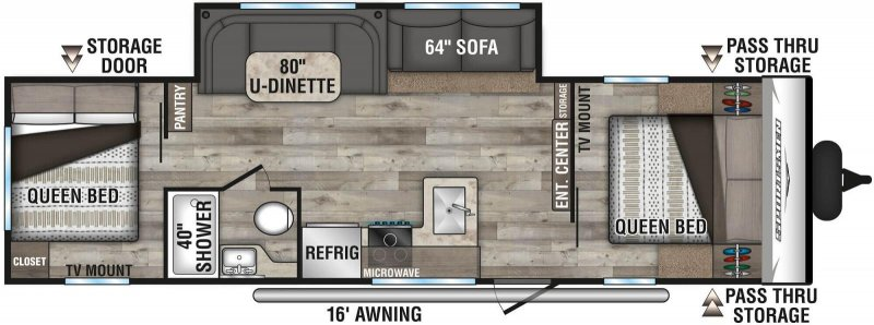 2021 K-Z INC. Sportsmen SE 301DBSE Floorplan