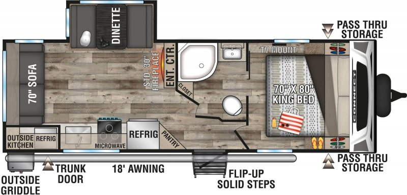 2021 K-Z INC. CONNECT 241RLK Floorplan