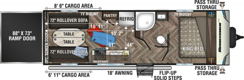 2021 K-Z SPORTSMEN 250THLE Floorplan