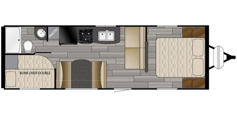 2018 HEARTLAND Prowler 25LX Floorplan