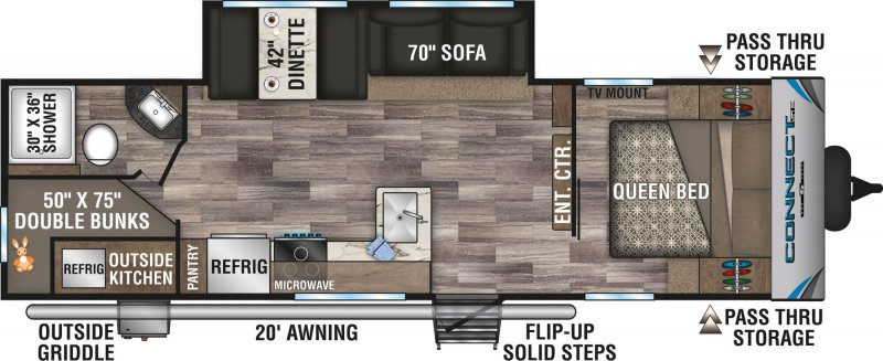 2021 K-Z CONNECT SE 261BHKSE Floorplan