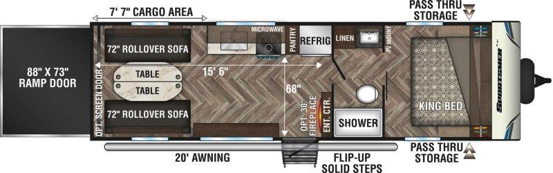 2021 K-Z SPORTSMEN LE 270THLE Floorplan