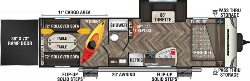 2020 K-Z SPORTSMEN LE 291THLE Floorplan