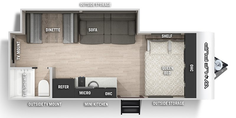 2022 FOREST RIVER CHEROKEE WOLF PUP 18TO Floorplan