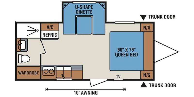 2013 KZ SPREE ESCAPE E200S Floorplan