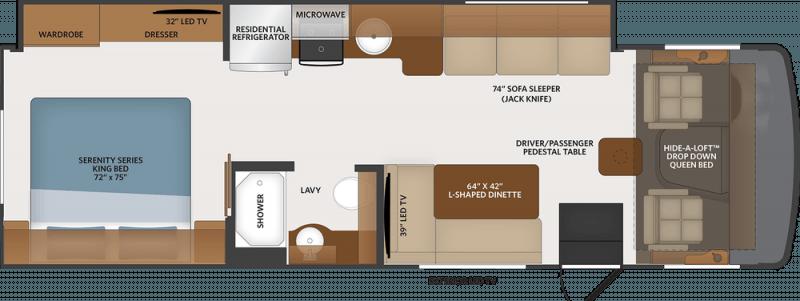 2019 FLAIR-FLEETWOOD Motor Home A CLASS 29M Floorplan