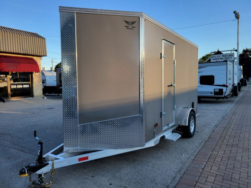2022 TOW-TEK Enclosed V-Nose 6X12 SINGLE AXLE IN STOCK