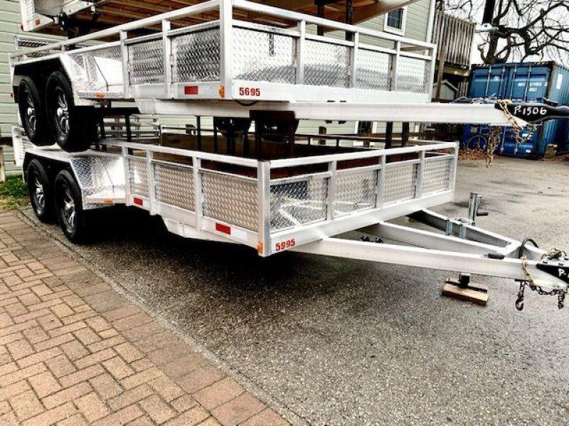 2021 TOW-TEK Aluminum Utility 7x16 Bi-fold