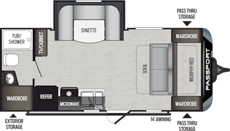 2020 KEYSTONE Passport 199ML SL Floorplan