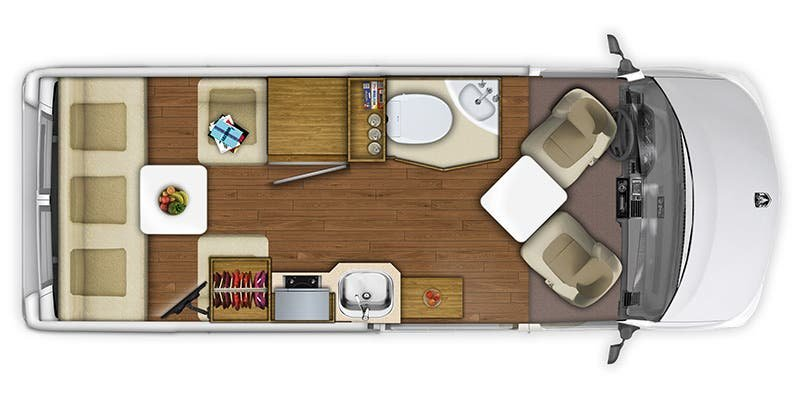 2021 ROADTREK Zion Explorer Floorplan