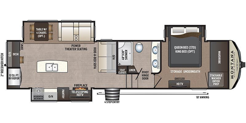 2018 KEYSTONE RV Montana High Country 320MK Floorplan