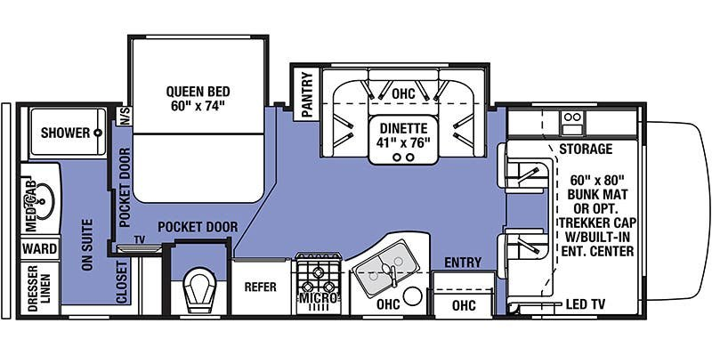 2019 FOREST RIVER Sunseeker 2420 Floorplan